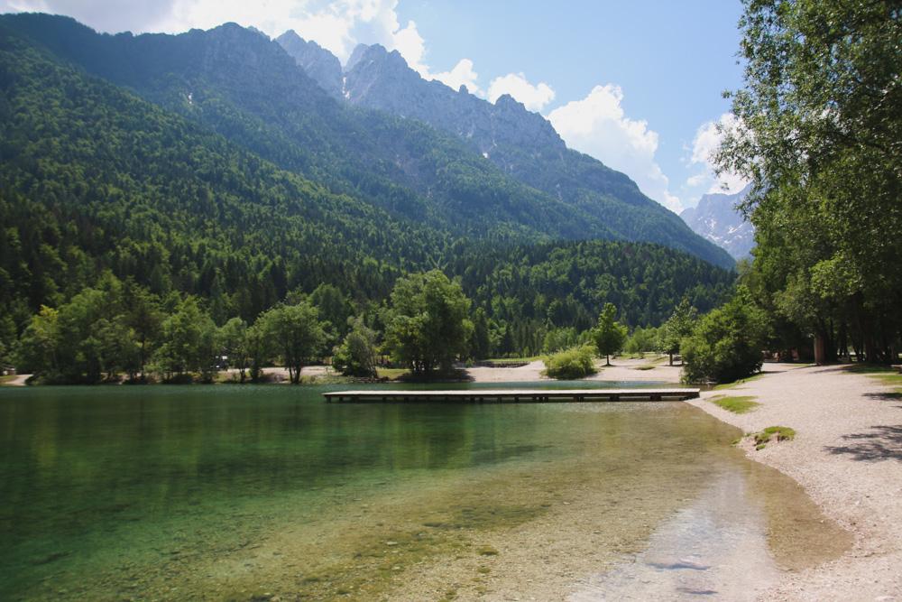 Lake Jasna at Kranjska Gora, Slovenia