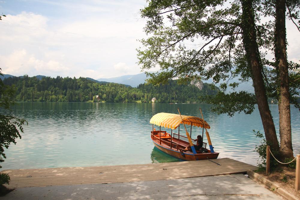 Pletna Boat on Lake Bled, Slovenia