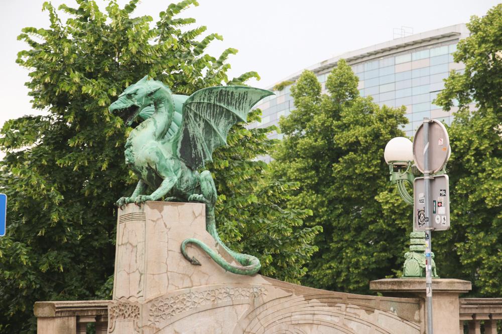 Dragon Bridge Ljubljana, Slovenia