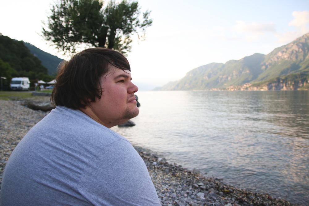 Campsite at Lake Como Italy