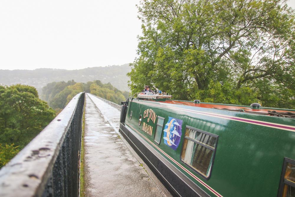 Canal Boat on Pontcysyllte Aqueduct, North Wales
