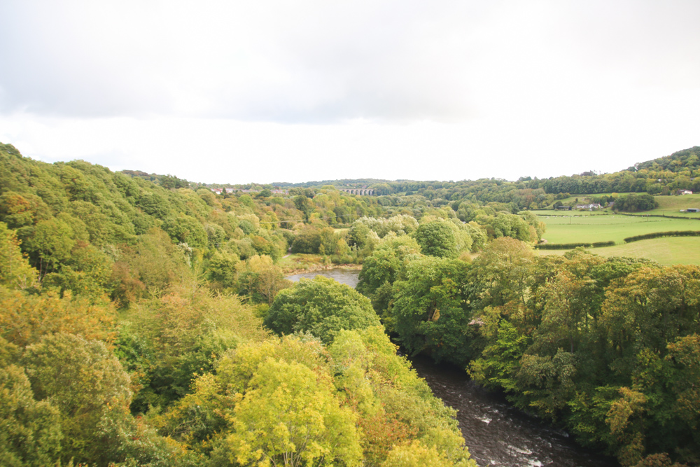 View from Pontcysyllte Aqueduct, North Wales
