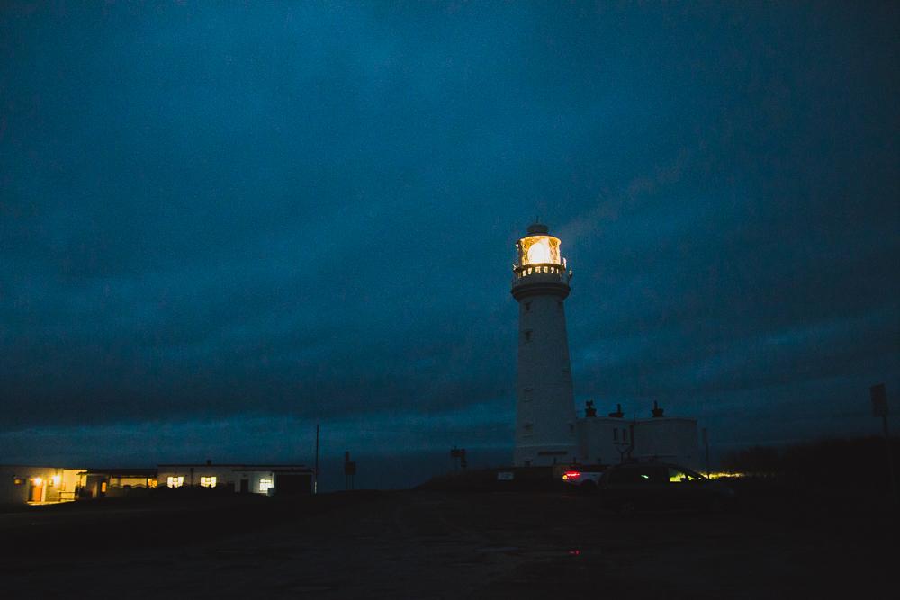 Flamborough Lighthouse at Night, Yorkshire