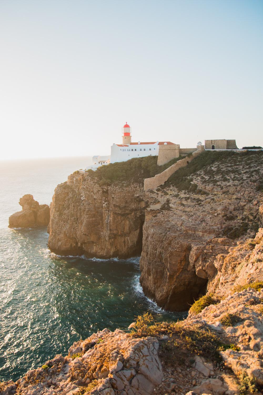 Cape St Vincent Lighthouse at Sunset