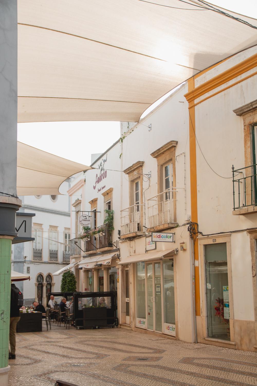 Exploring the streets of Faro in the Algarve, Portugal
