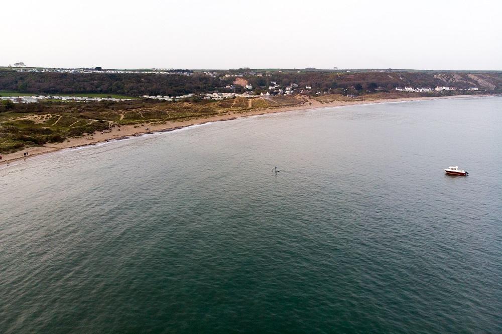 Drone Photo of Port Eynon Beach, Gower Peninsula