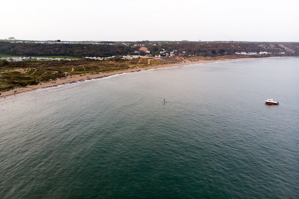 Drone Photo of Port Eynon Beach, Gower Peninsula