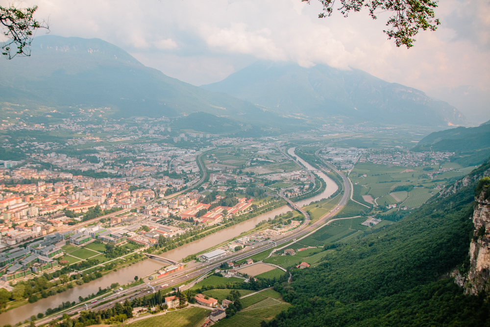 View of Trento from the Trento Cable Car