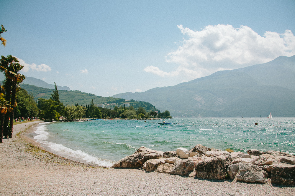 Beach at Riva del Garda