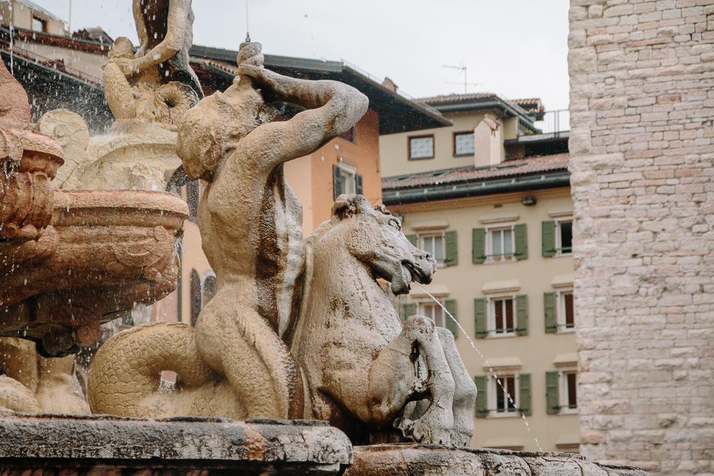 Fountain in Piazza Duomo in Trento