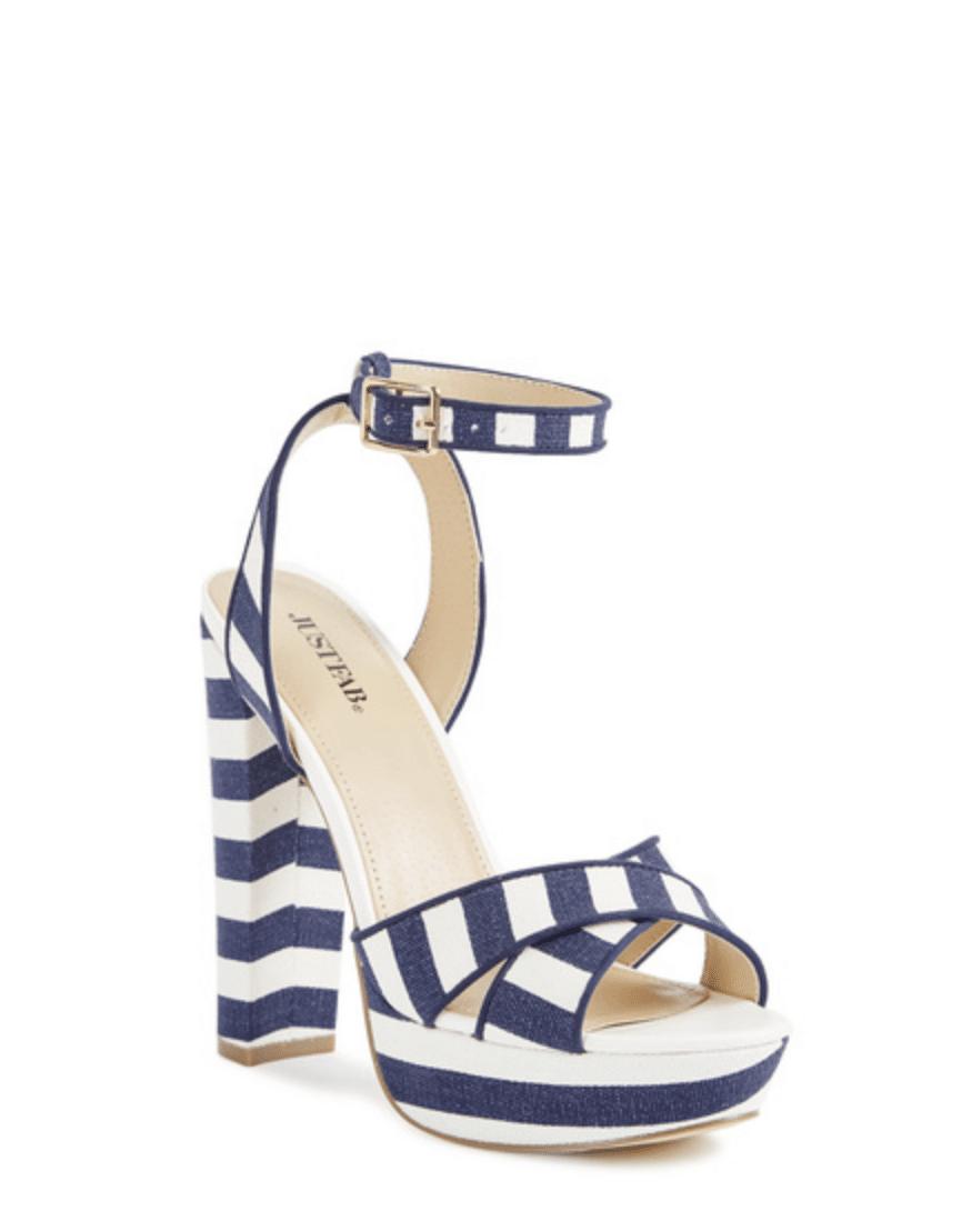 Dolce Dupes Stripe Sandals
