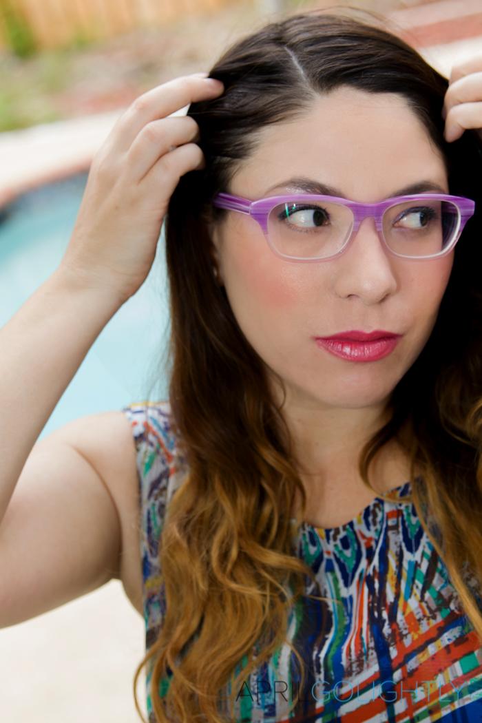 Ozeal Radiant Orchid Prescription Eyeglasses April Golightly