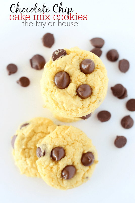 Cake Mix Chocolate Chip Cookies Recipe