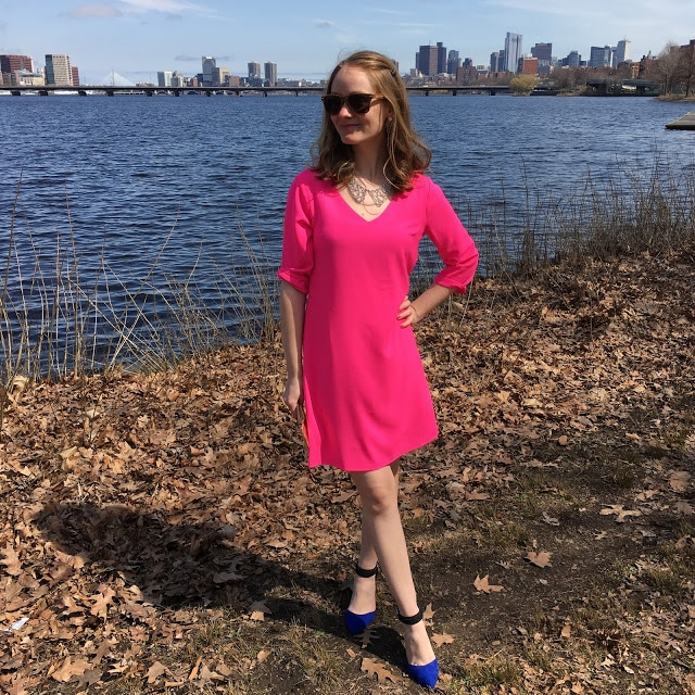 Hot Pink Dress from Chow Down USA