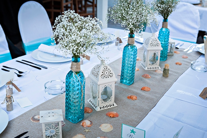 How to create romantic wedding centerpieces for receptions from Stagetecture.