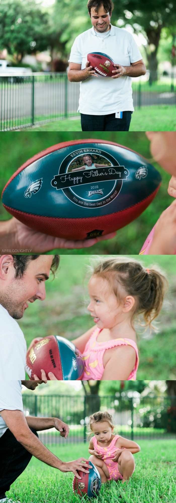 Perfect Father's Day Gift ideas from daughter and from kids for the football sports lover and those that love custom creations made special for dads