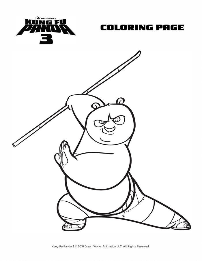 Kung Fu Panda 3 Coloring Sheets Free Printables Po