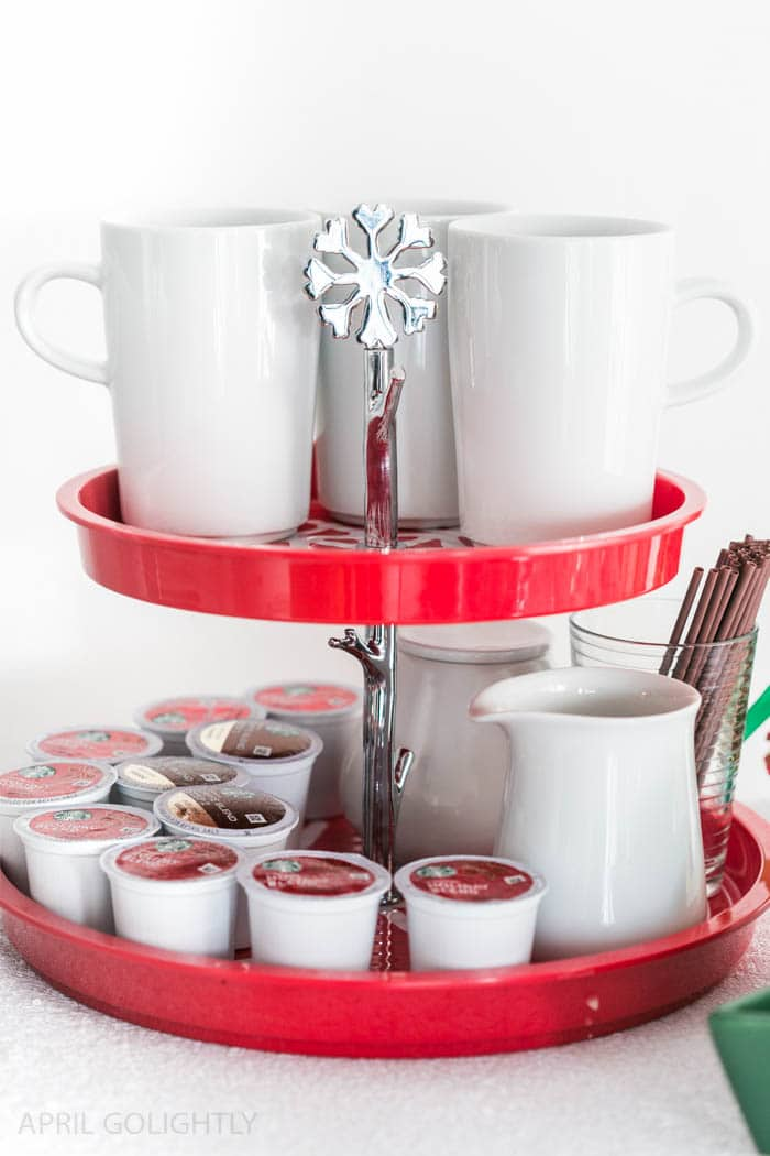 Holiday Coffee Bar for serving guests