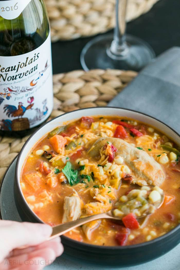 Corn and Tortilla Chicken Soup