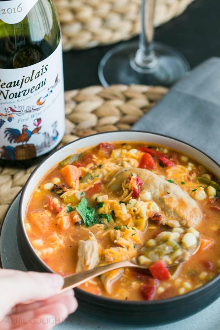 Corn and Tortilla Chicken Soup