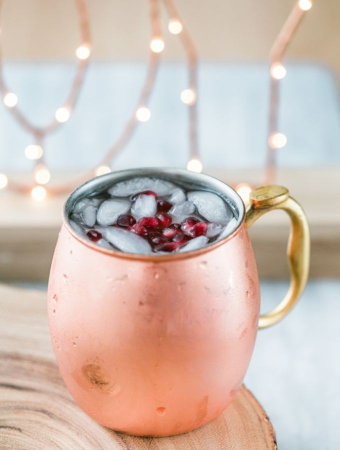 Pomegranate Moscow Mule Recipe with Pama Liqueur