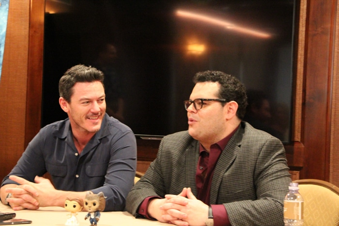Luke Evans & Josh Gad Interview with Faux Antler Decor Inspired by Gaston Decorating Style