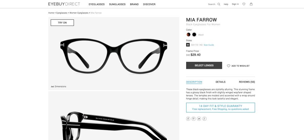 Mia Farrow Frames