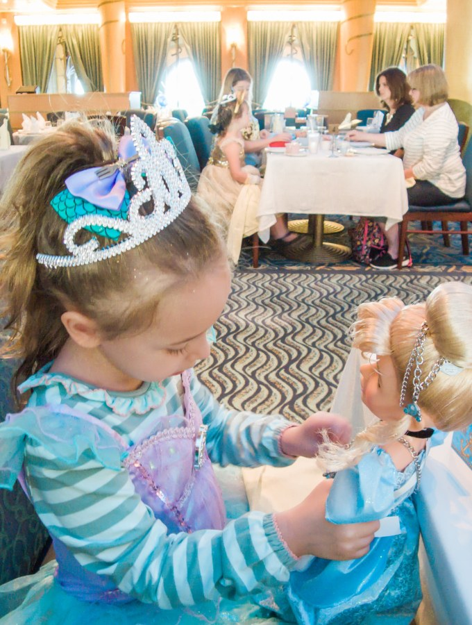 Make Your Disney Cruise Extra Special with Royal Court Royal Tea Party and Bibbidi Bobbidi Boutique