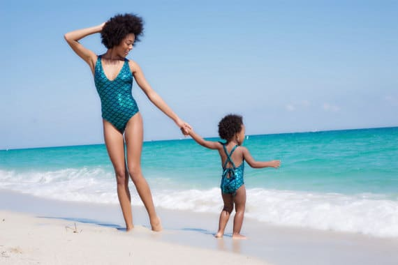 Mermaid Swimsuit Matching Mommy and Me Summer