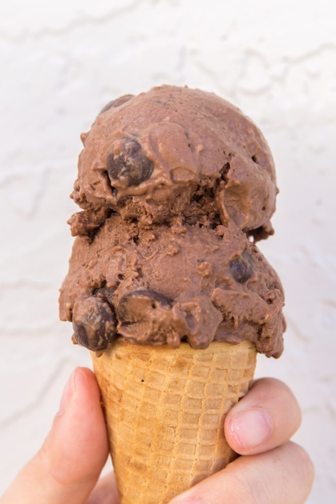 Healthy Chocolate Peanut Butter Ice Cream