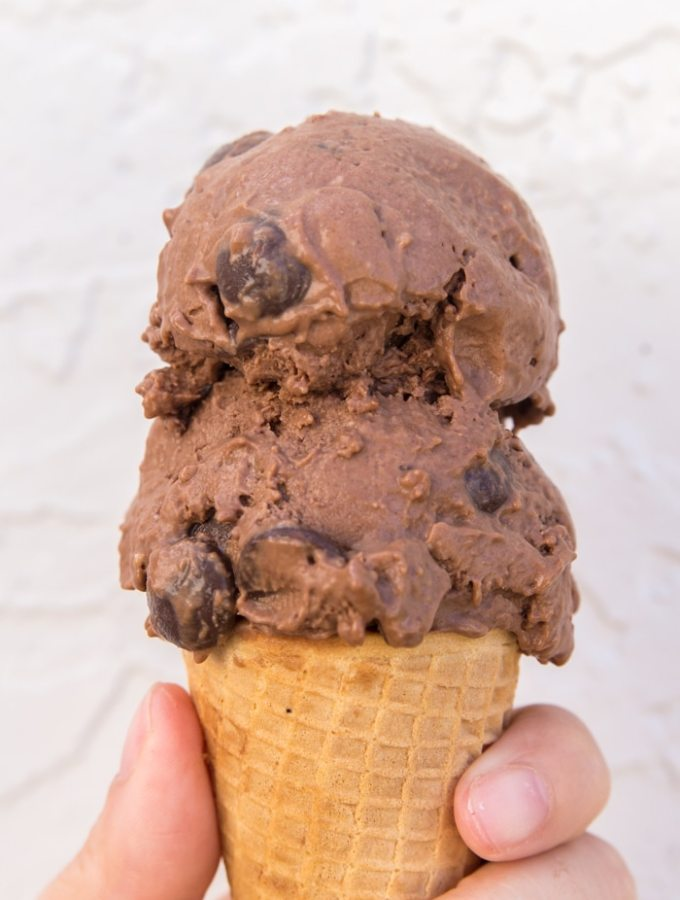 Healthy Chocolate Peanut Butter Ice Cream