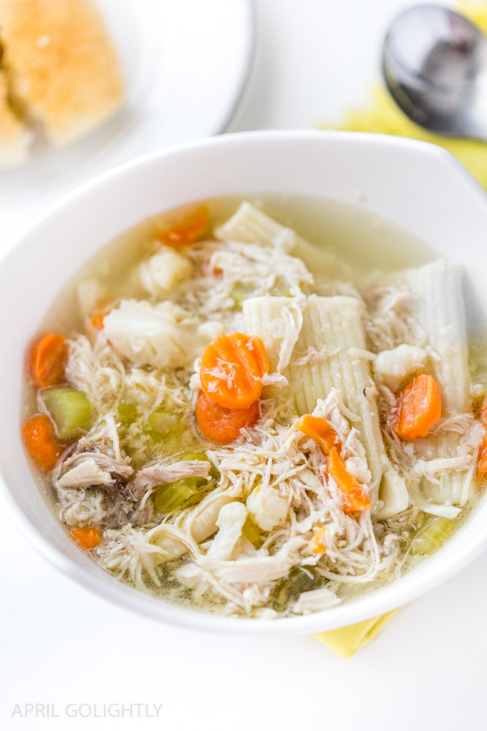Instant Pot Chicken Soup with Cauliflower