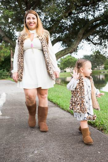 Mommy and Daughter matching outfits Leopard