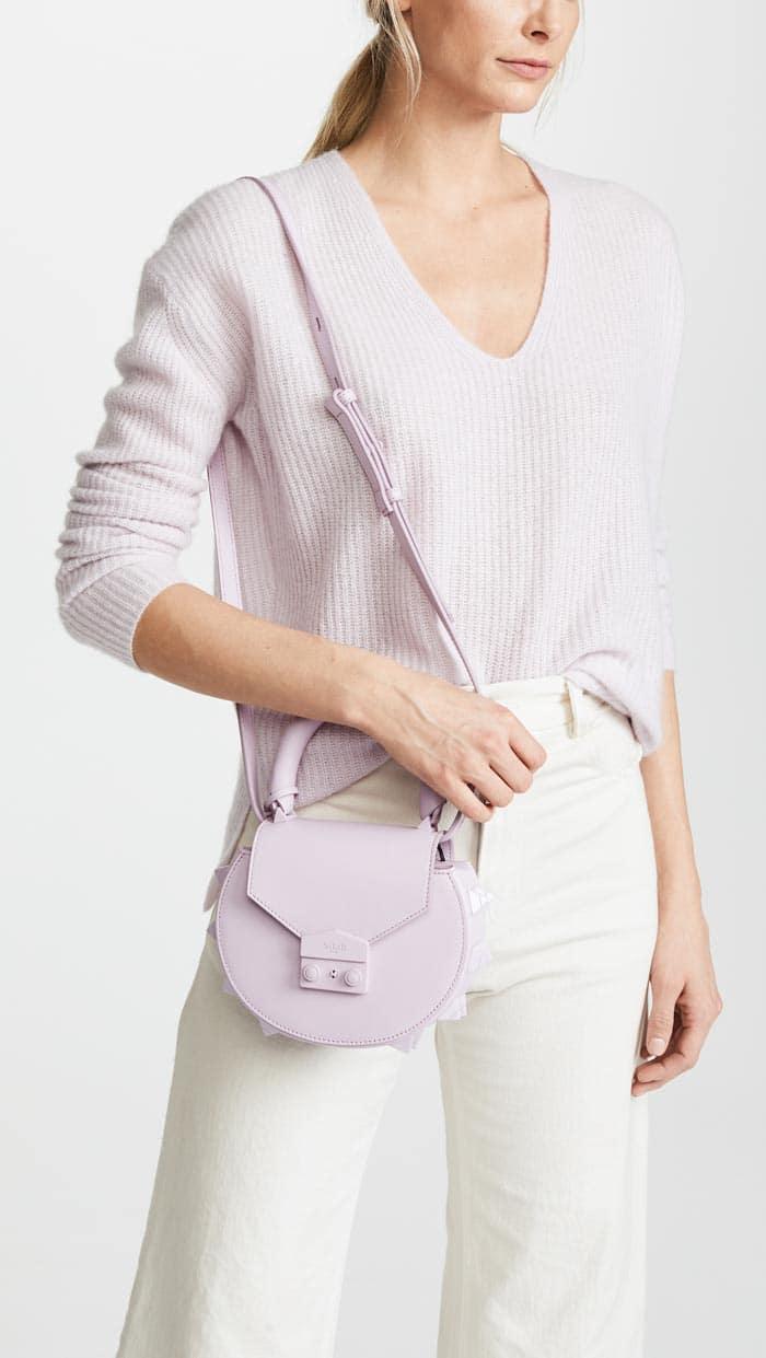 Lilac Top Handle Bag