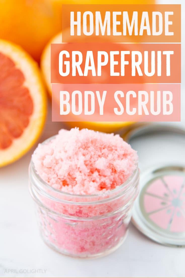 Homemade Grapefruit Body Scrub