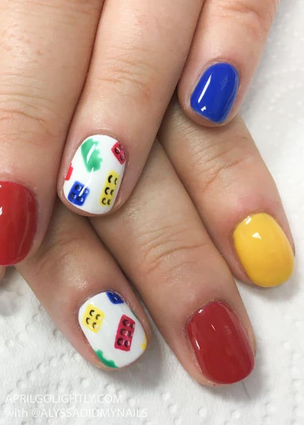 Legoland Park Nails Art Design