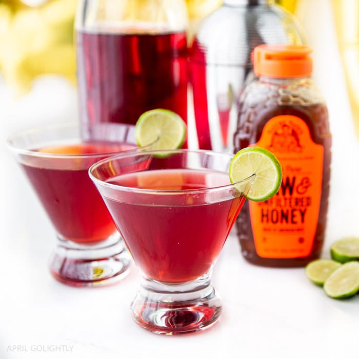 Raw Honey Cosmopolitan Cocktail