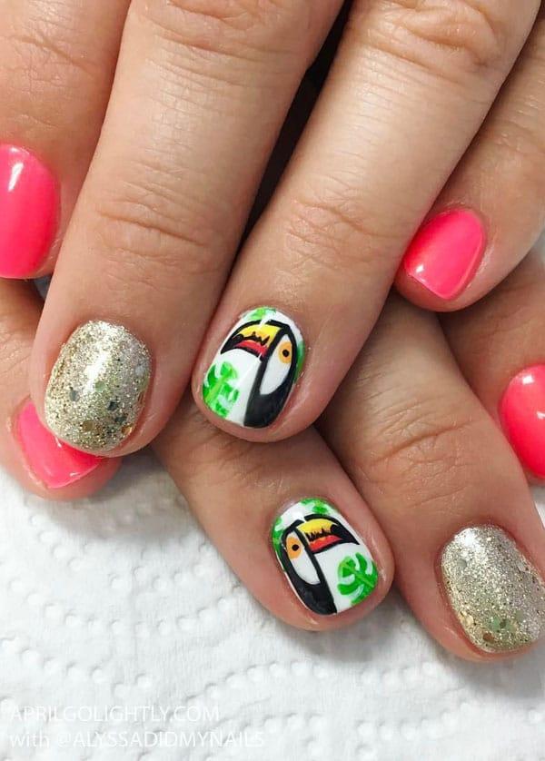 Tucan Nail Art