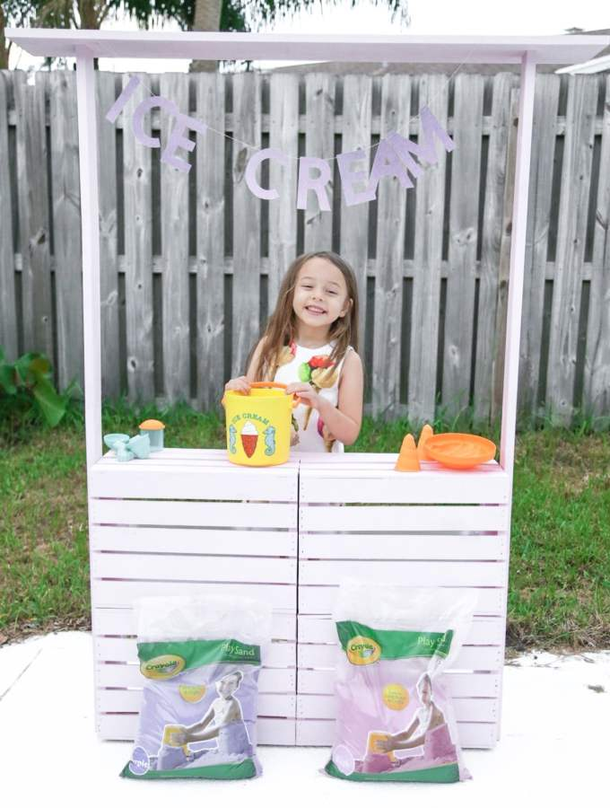 DIY Sandbox Ice Cream Stand for Crayola Play Sand