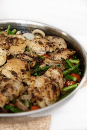 One Pan Roasted Chicken & Vegetables Recipe Ingredients