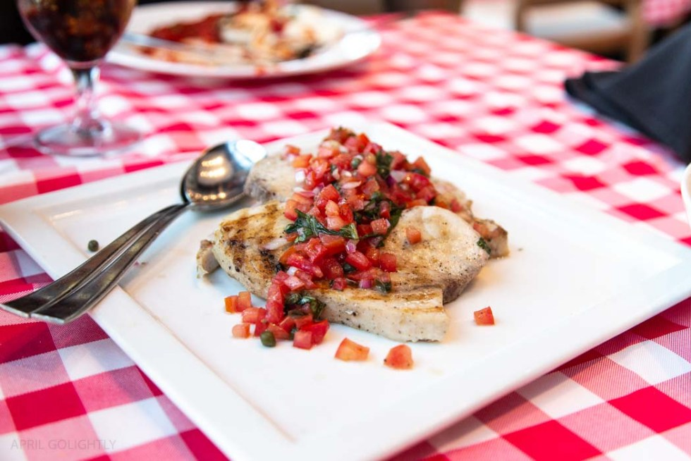 Swordfish with Tomato and Caper Relish