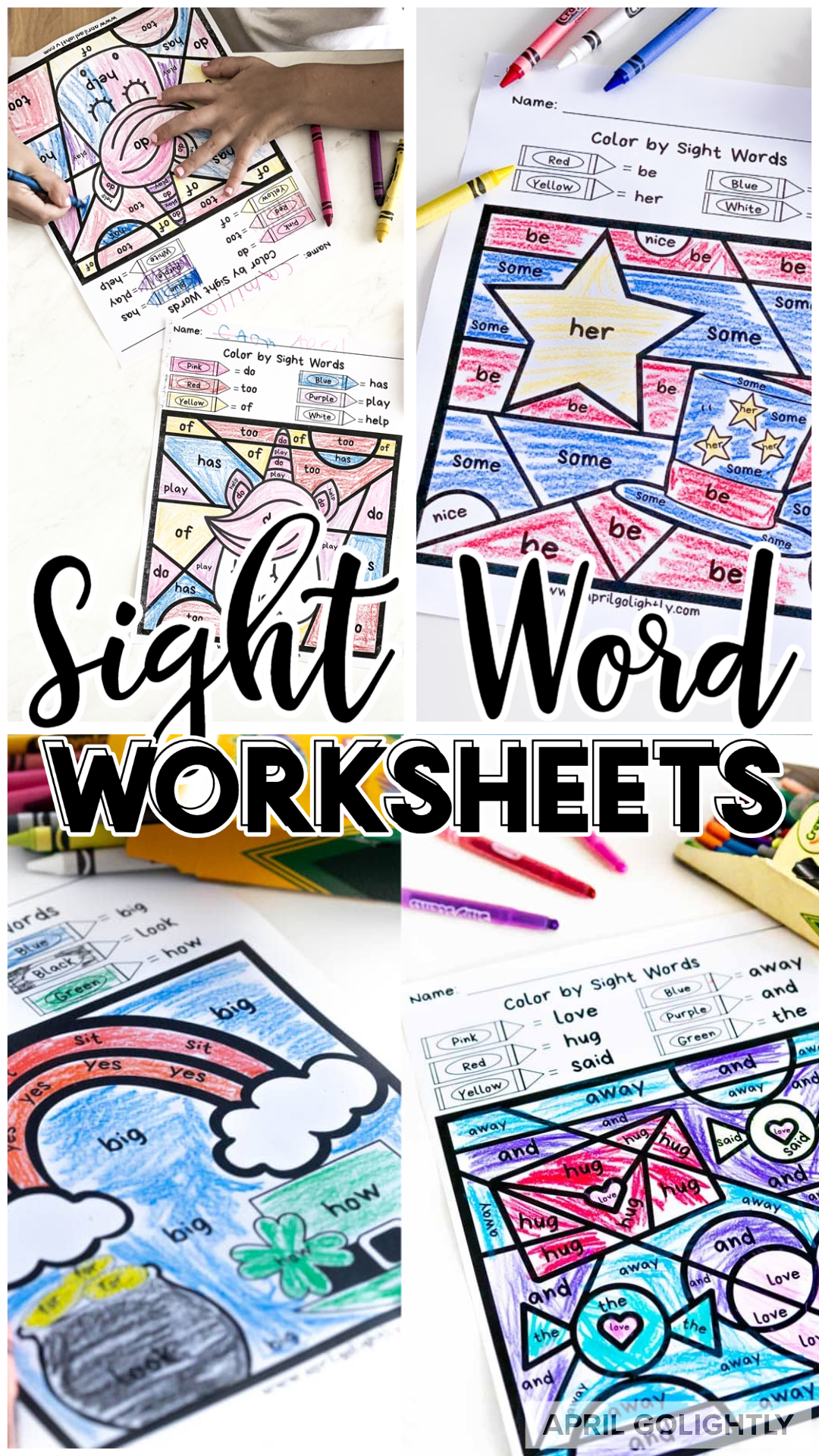 Sight Word Worksheets Free Printables