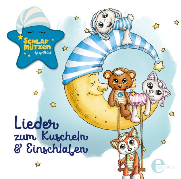 """Cover der Schlafmützen-CD """"Lieder zum Kuscheln & Einschlafen"""""""