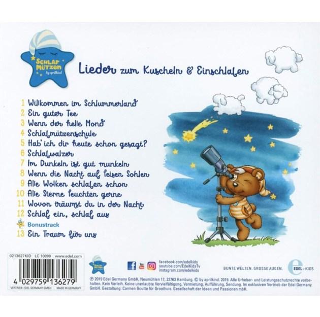 """Schlafmützen-CD """"Lieder zum Kuscheln & Einschlafen"""" - Titelliste"""