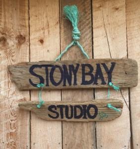 Stony Bay Studio Sign