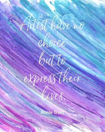 Artists must express their lives
