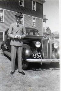 Dad and his Plymouth Sedan