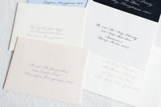 Available With Our Double Envelope Option For Invitations The Inner Is Printed Guest Names And Outer Used Mailing