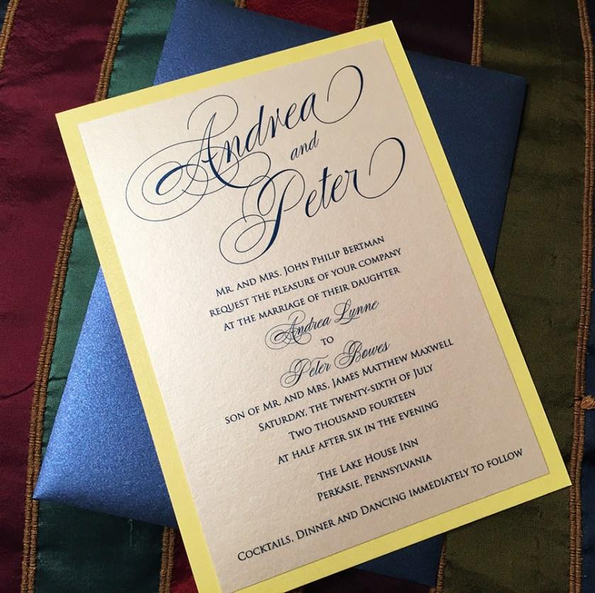 Andrea Peter S Wedding Invitation Suite