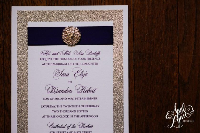Sara Brandon S Wedding Invitation Suite